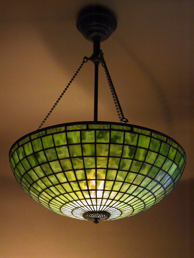"16"" Geometric Chandelier on Three Chain fixture"