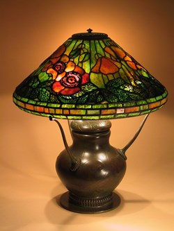 Poppy on decorated urn base