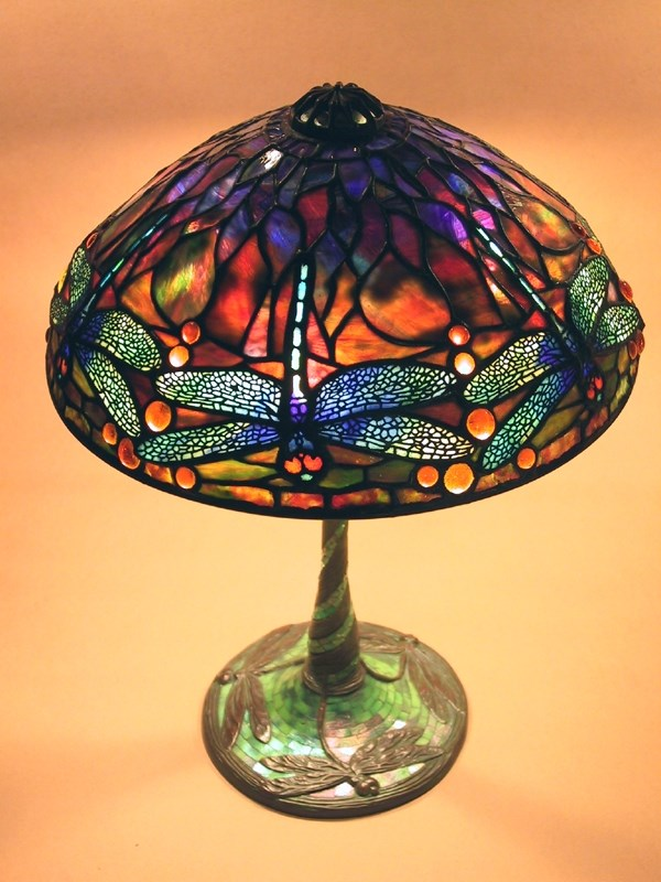 "14"" Dragonfly on Dragonfly Mosaic base"