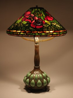 "16"" Poppy on Vial base"